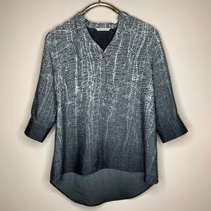 Soft Surroundings Black and Gray Printed Tunic